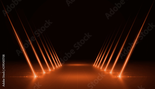 Foto auf AluDibond Licht / Schatten 3D rendering of an presentation background