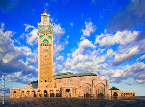 The Hassan II Mosque, Casablanca, Morocco: Early morning view of