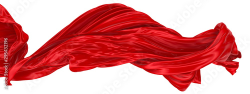 Photo Abstract background of red wavy silk or satin