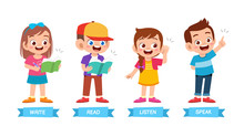 Happy Cute Kids Basic Learning Method Set