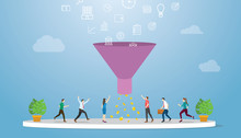 Marketing Sales Funnel With Pr...
