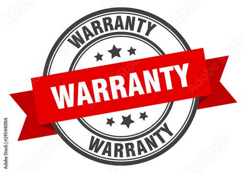 Fotomural warranty label. warranty red band sign. warranty