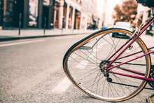 Damaged Bicycle With A Bent Wh...