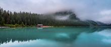 Lake Louise Cabin Panorama
