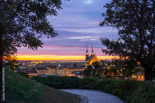 Brno Cathedral in the morning Canvas Print