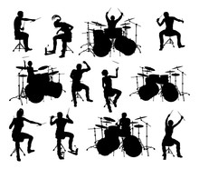 Drummer And Drum Kit Musician ...