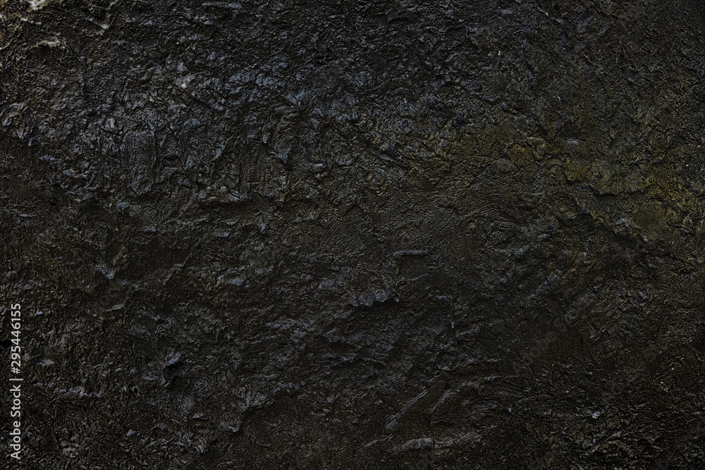Fototapety, obrazy: Black Stone Wall in the Cave Background.