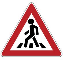 Warning Sign. Two-way Traffic....