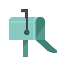 House Mailbox Icon. Flat Illustration Of House Mailbox Vector Icon For Web Design