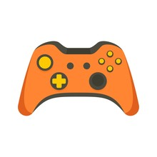 Video Game Controller Icon. Fl...