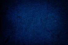 Blue Grunge Concrete Wall Texture Background.