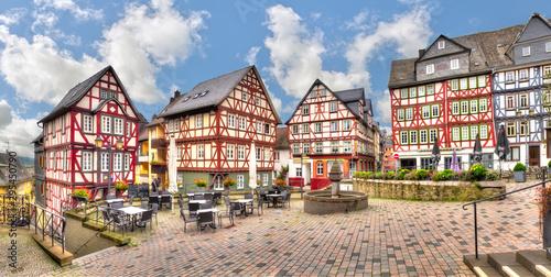 Fotografía  Häuserensemble am Kornmarkt in Wetzlar, Hessen