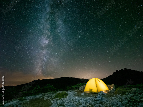 Fotomural 星 山 天の川 テント