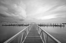 Bridge Against Sea And Clouds