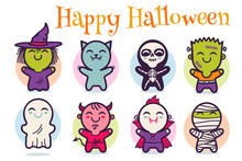 Vector Halloween Monsters.