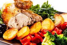 Roast Chicken Fillet And Veget...