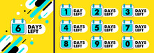 Number Days Left Countdown Vec...
