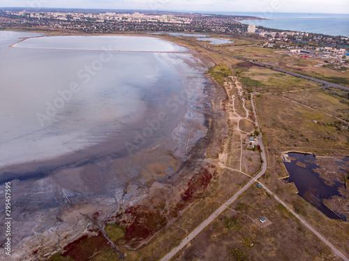 Valokuva Ancient mud baths retreat clinic center on the coast of Kuyalnik Liman, known by