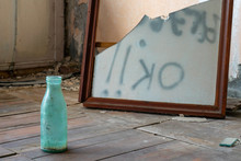 Concept Shot. Empty Bottle And...