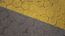 Texture De Pavés Hexagonales ...