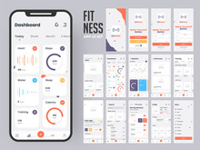 Fitness App Material Design Wi...