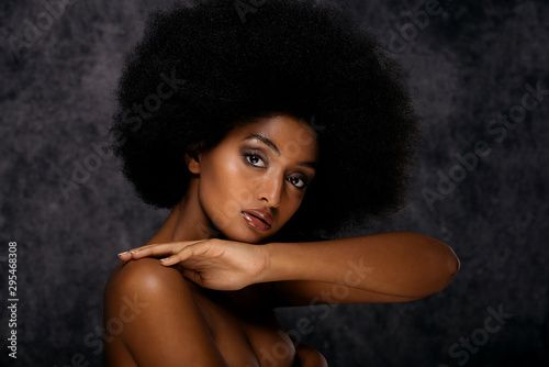 Beautiful afro woman Wallpaper Mural