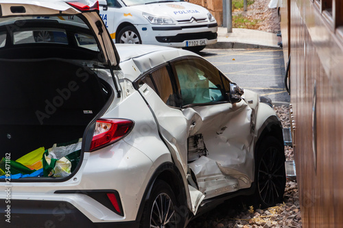 Poster Voitures rapides Unfall am Bahnübergang auf Mallorca