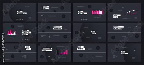 Vászonkép  Presentation template design