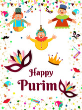 Happy Purim Party Template Or ...