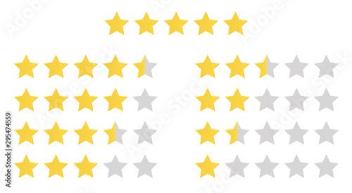Fotografía Stars rating set
