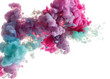 abstract background. mix of pastel color splash from paint