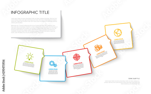 Fotomural  Multipurpose Infographic template with five elements - light version