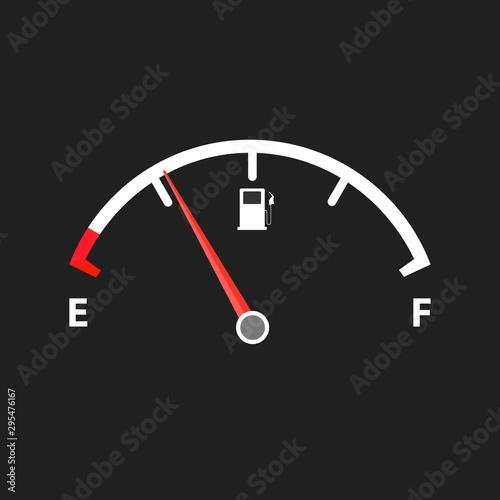 Fotografía  Empty fuel meter