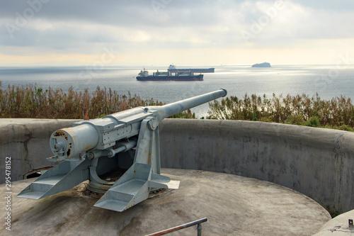 Photo Novosiltsevskaya battery on the Russian island, defending Vladivostok in the early 20th century