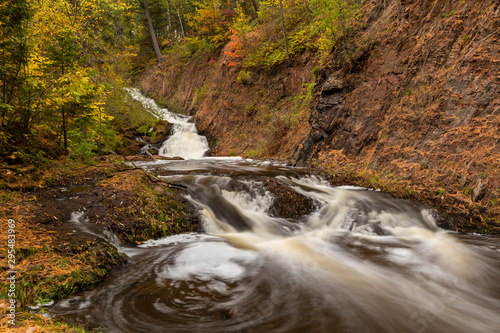 Tischer Creek Waterfall In Autumn