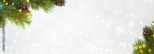 Cuadros en Lienzo Beautiful Wide Angle Christmas Background