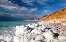 View Of The Dead Sea Coastline...
