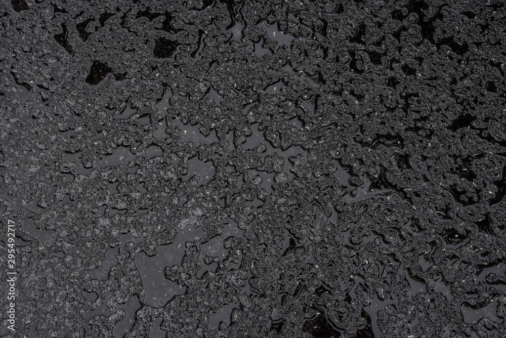 Fototapeta black wet asphalt background
