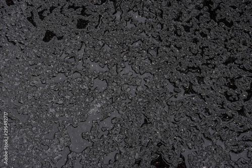 black wet asphalt background Fototapeta
