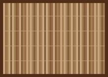 Brown Bamboo Mat. Asian Table ...