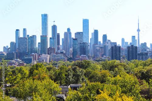 Keuken foto achterwand Verenigde Staten Toronto skyline in urban park