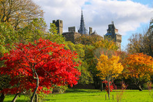 Cardiff Castle Exterior In The...