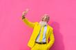 canvas print picture - Hispter stylish senior man