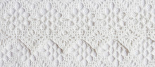 White Textile Background, Embroidery Sewing Handmade, Vintage Pattern Banner