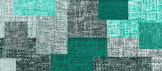 Handmade quilt as a backgro...