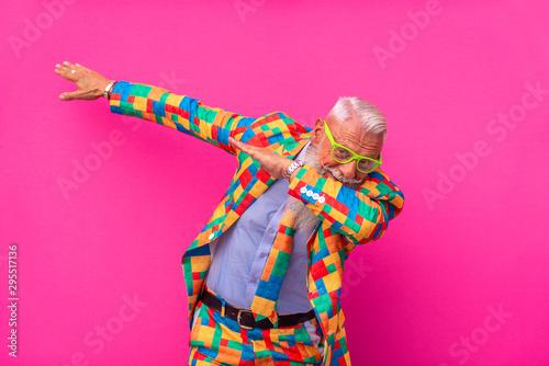 Obraz Hispter stylish senior man - fototapety do salonu