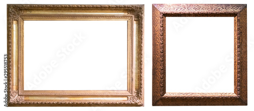 Leinwand Poster  Antique gold antique picture frames