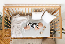 Top View Of Adorable Newborn B...