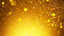 Abstract Golden Glittering Bac...