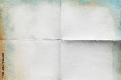 Fotografía  Old paper folded, texture background.